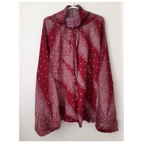 (A4)100% Rayon Harem Pants w/ Feather Print